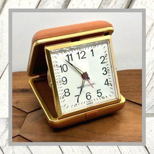 Vntg Westclox Travel Clock